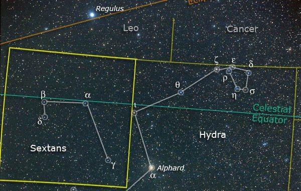 Constelación de Sextans